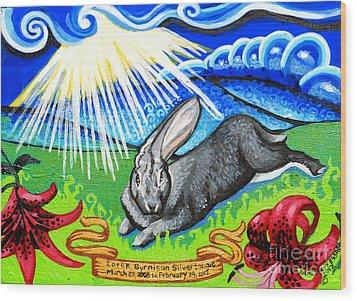 Iorek Byrnison Silvertongue Wood Print by Genevieve Esson