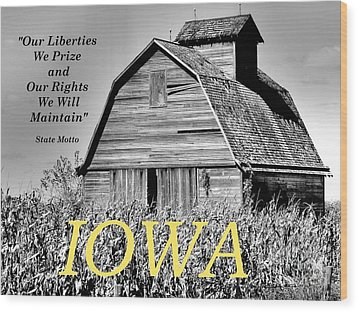 Wood Print featuring the photograph Iowa Pride by Lin Haring