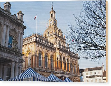 Ipswich Town Hall Wood Print by Andrew  Michael
