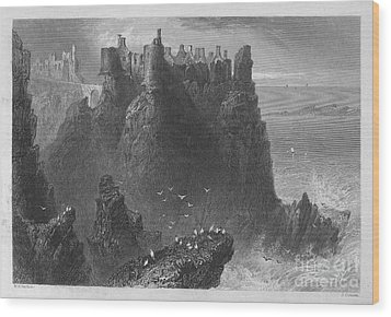 Ireland: Dunluce Castle Wood Print by Granger