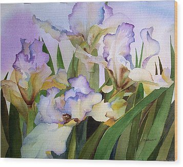 Wood Print featuring the painting Iris IIi by Richard Willows