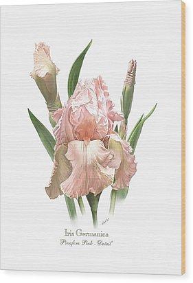 Iris Pinafore Pink Wood Print