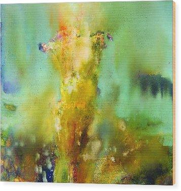 Iris Radiance Wood Print by Petro Bevza