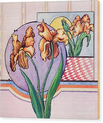 Iris Reflection Wood Print