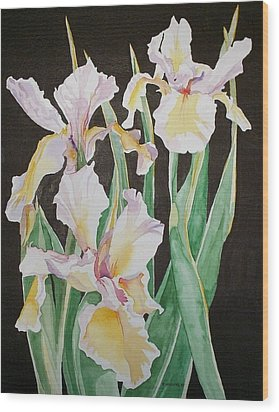 Wood Print featuring the painting Iris  by Richard Willows