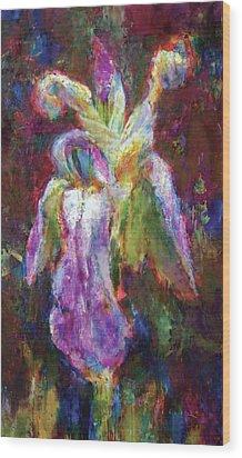 Iris Vrubel Wood Print by Petro Bevza