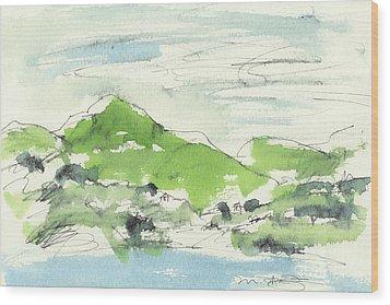 Irish Bay Wood Print by Marilyn MacGregor