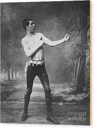 Irish Boxer, 1890s Wood Print by Granger