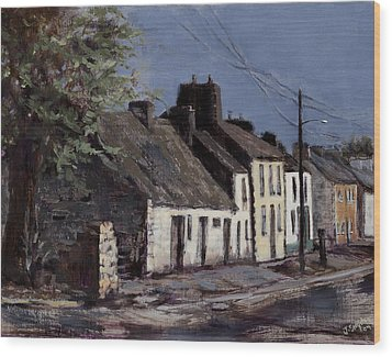 Irish Cottages Wood Print