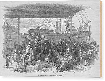 Irish Emigration Wood Print by Granger