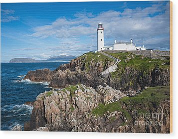 Irish Lighthouse Wood Print by Andrew  Michael