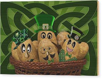 Irish Potatoes Wood Print by Trudy Wilkerson