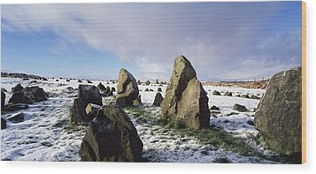 Irish Snow Scenes Co Tyrone, Beaghmore Wood Print by The Irish Image Collection