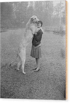 Irish Wolfhound Wood Print by Bellamy