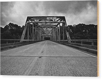 Iron Bridge Mississippi Wood Print by Bryan Burch