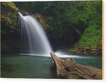 Iron Creek Falls 3 Wood Print by Marcus Angeline
