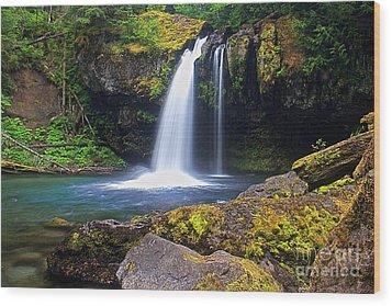 Iron Creek Falls Wood Print by Marcus Angeline