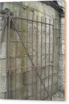 Wood Print featuring the photograph Iron Gate by Christophe Ennis