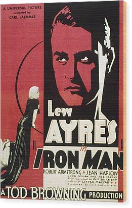 Iron Man, Jean Harlow, Lew Ayres, 1931 Wood Print by Everett
