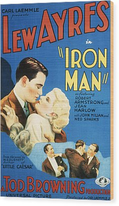 Iron Man, Lew Ayres, Jean Harlow, 1931 Wood Print by Everett