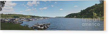 Wood Print featuring the photograph Irondequoit Bay Panorama by William Norton