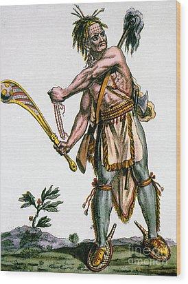 Iroquois Warrior Wood Print by Granger