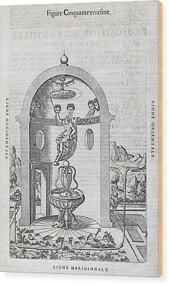 Irrigation System, 16th Century Artwork Wood Print by Middle Temple Library