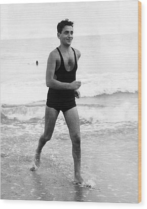Irving Berlin At The Beach In Palm Wood Print by Everett