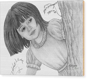 Is It Alice Wood Print by Audra D Lemke