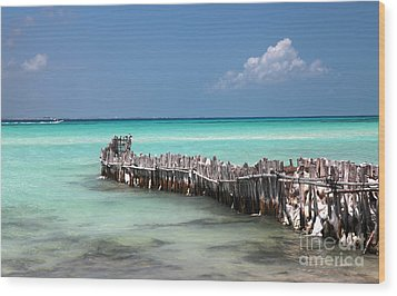 Wood Print featuring the photograph Isla Mujeres by Milena Boeva