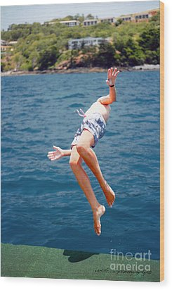Wood Print featuring the photograph Island Hopping Boy by Vicki Ferrari
