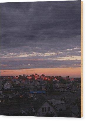 Island Of Light Wood Print by Matthew Green