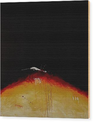 Island Picture  I. Wood Print by Jorgen Rosengaard