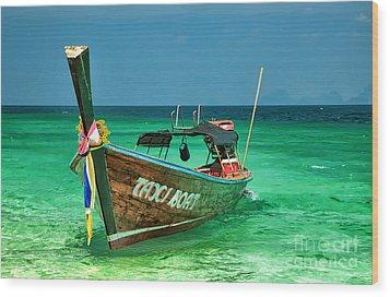 Island Taxi  Wood Print by Adrian Evans