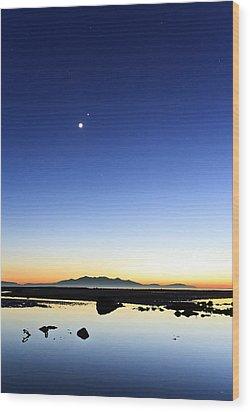 Isle Of Arran Sunset Wood Print by Fiona Messenger