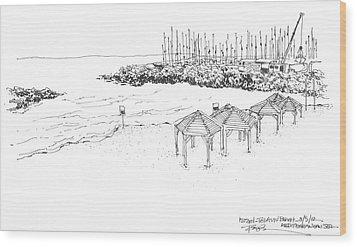 Israel Tel Aviv Beach Wood Print