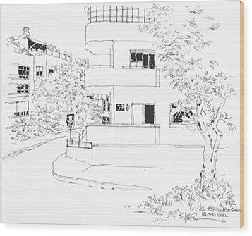 Israel Tel Aviv Building 39 Wood Print