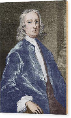 Issac Newton, English Physicist Wood Print by Sheila Terry