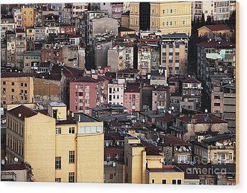 Istanbul Cityscape Vii Wood Print by John Rizzuto