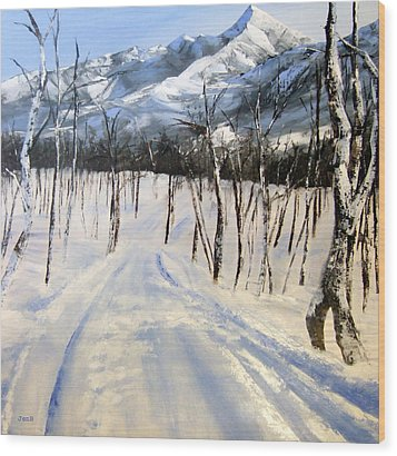 Istidan Mountain Wood Print by Jennifer  Blenkinsopp