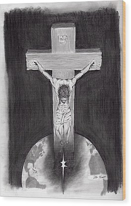 It Is Finished Wood Print by Lou Knapp