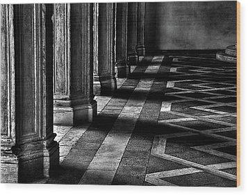 Italian Columns In Venice Wood Print by McDonald P. Mirabile