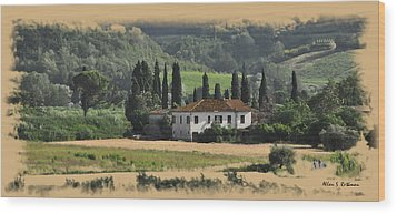Italian Countryside Wood Print