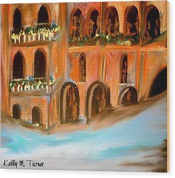 italian Palazzo Wood Print by Kelly Turner
