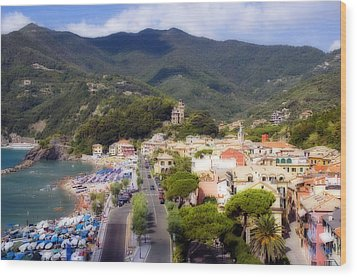 Wood Print featuring the photograph Italian Riviera by Rod Jones