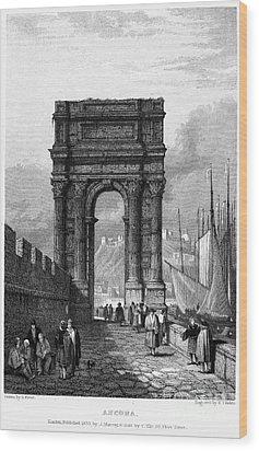 Italy: Ancona, 1833 Wood Print by Granger