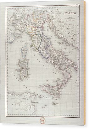 Italy Before Unification Wood Print by Fototeca Storica Nazionale