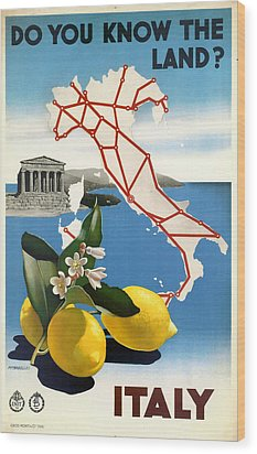 Italy Wood Print by Georgia Fowler