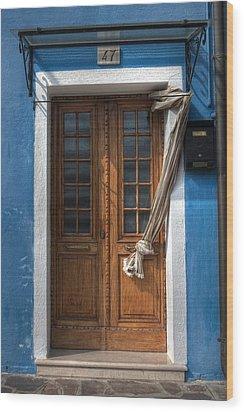 Italy Old Door Wood Print by Joana Kruse