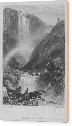 Italy: Waterfall, 1833 Wood Print by Granger